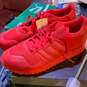 Adidas red shoes size 11